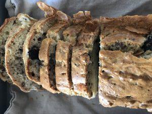 cake au bleu, noix et olives