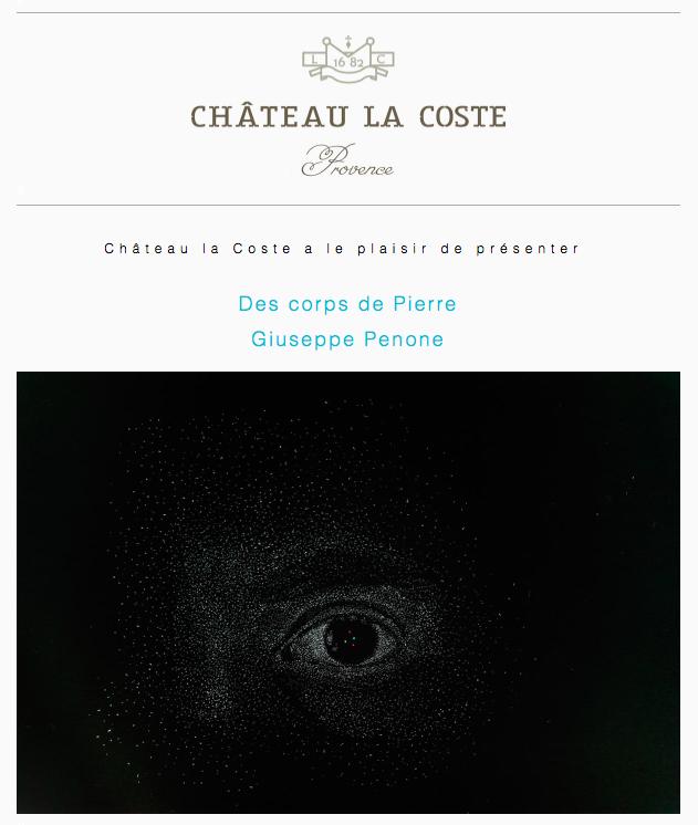 exposition povera chateau la coste en Provence