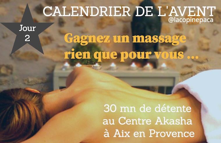 calendrier de l'avent massage à gagner concorus la copinepaca