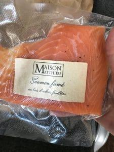 saumon fume produit terroir provence