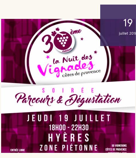 agenda du vin en Provence