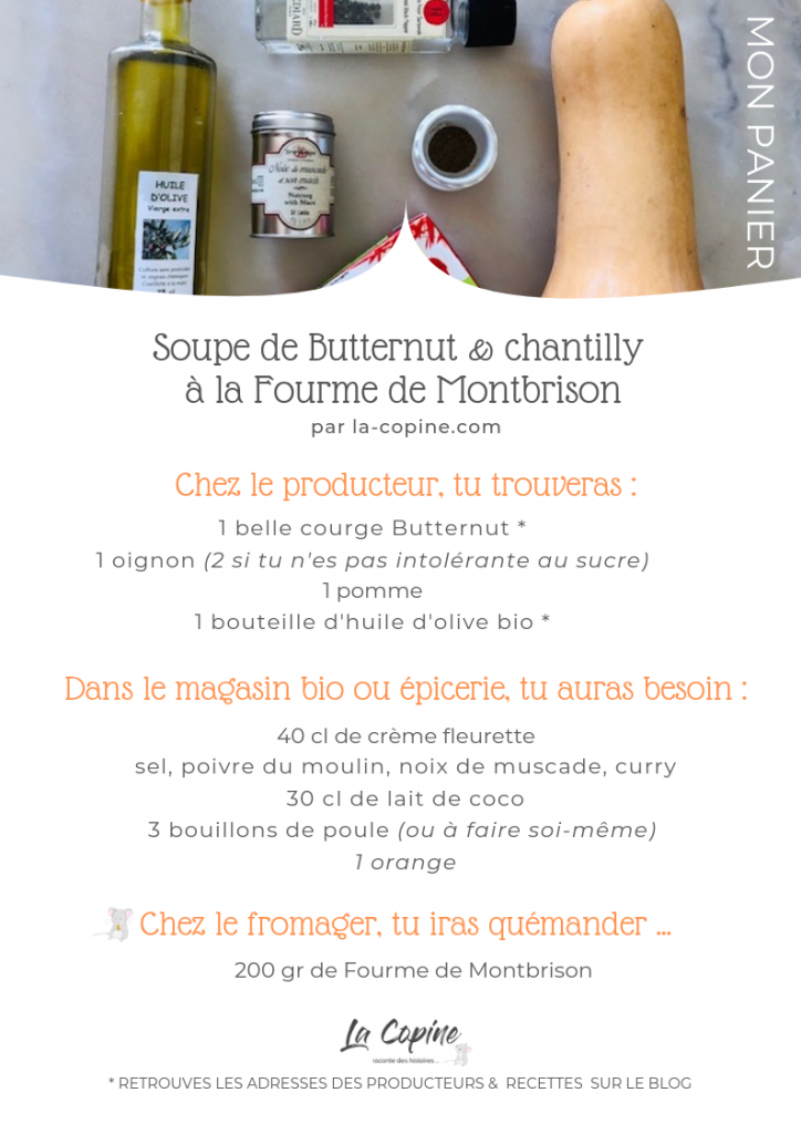 recette butternut chantilly fourme montbrison