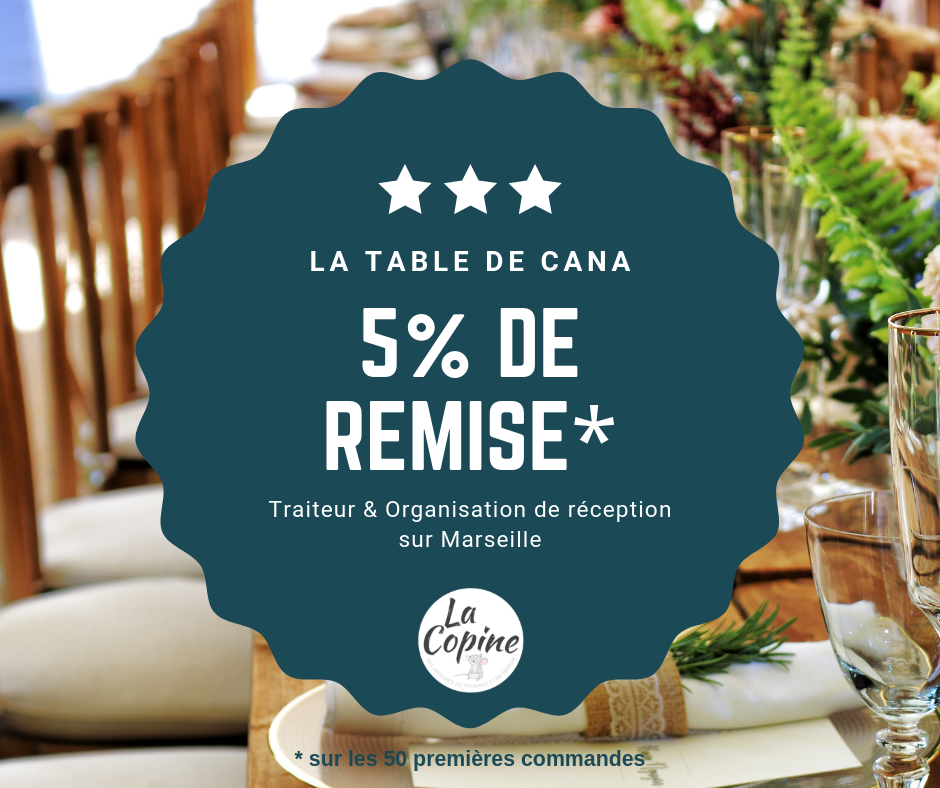 reduction traiteur marseille table cana
