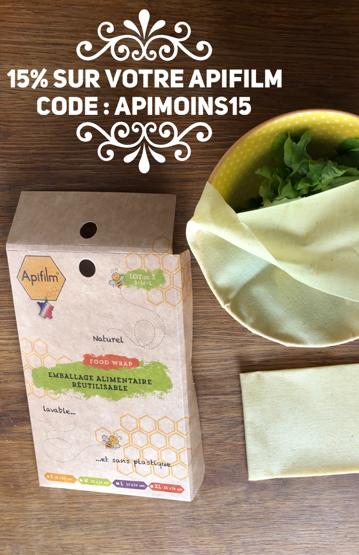 film alimentaire sans plastique code promo apifilm