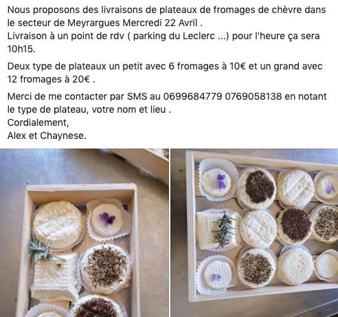 livraison fromage de chèvre haute provence